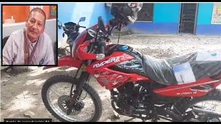 El Apostol Santiago Zuniga Estrena Moto donada por un seguidor tocado por Dios