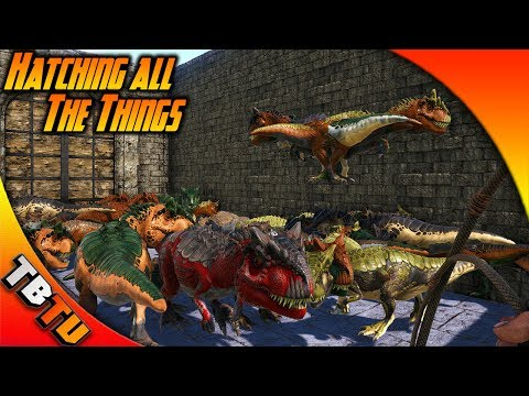 THE HATCHENING! ALLOSAURUS MUTATIONS AND MORE! Ark Survival Evolved Zoo Breeding