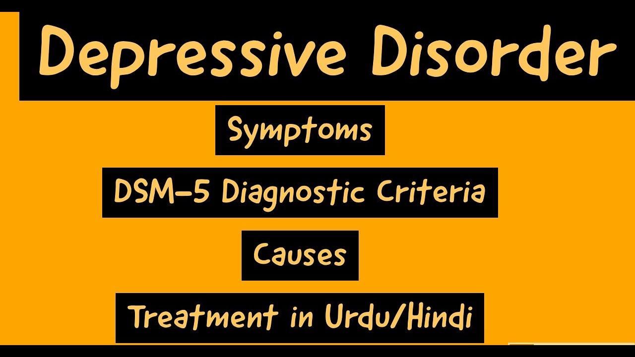 Major Depressive Disorder DSM-5 Diagnostic Criteria, Sub ...
