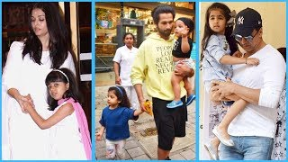 Bollywood Parents Protect Their Kids in Crowd | Bollywood News and Gossips