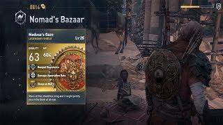 Assassin's Creed  Origins Best Legendary Shield - Medusa's Gaze
