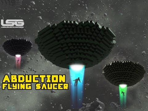 Space Engineers -  Alien Abduction Building A Classic Flying Saucer