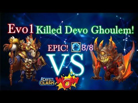 Evo1 Wallawalla Vs Devo Ghoulem Amazing!! Castle Clash