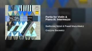 Partia for Violin & Piano:III. Intermezzo