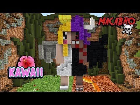 Minecraft: CONSTRUÇÃO METADE KAWAII METADE ASSUSTADORA! (BUILD BATTLE) thumbnail