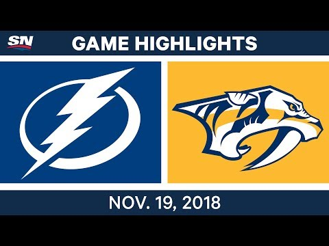 NHL Highlights | Lightning vs. Predators – Nov. 19, 2018