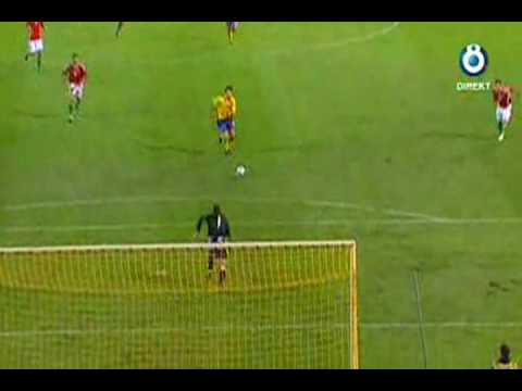 Zlatan Ibrahimovic goal vs Hungary (SWEDEN VS HUNGARY)(VM-Kval 5 September )