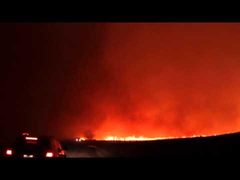 Southern Alberta Wild Fire near Lethbridge November 27, 2011