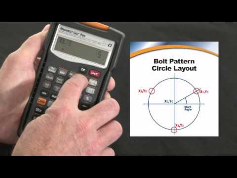 Machinist Calc Pro Bolt Pattern Circle Layout How To Calcula
