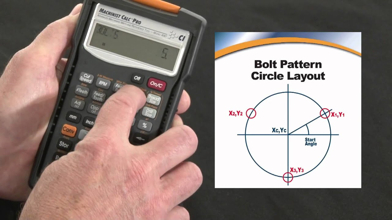 Machinist Calc Pro Bolt Pattern Circle Layout How To Calculate