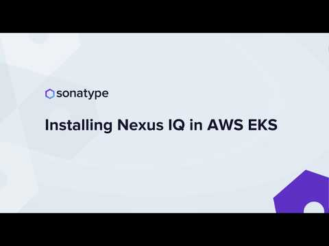 Installing Nexus IQ in AWS EKS