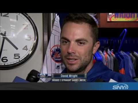 David Wright discusses neck injury and what's next