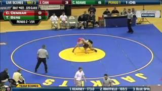 Video Lawson's Colden Denisar wrestles against Lathrop's Tyler Berg at the 220 lbs. weight class download MP3, 3GP, MP4, WEBM, AVI, FLV Juli 2018