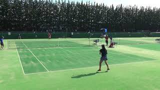 2017年 テニス 女子シングル 秀明八千代vs京都外大西 3回戦