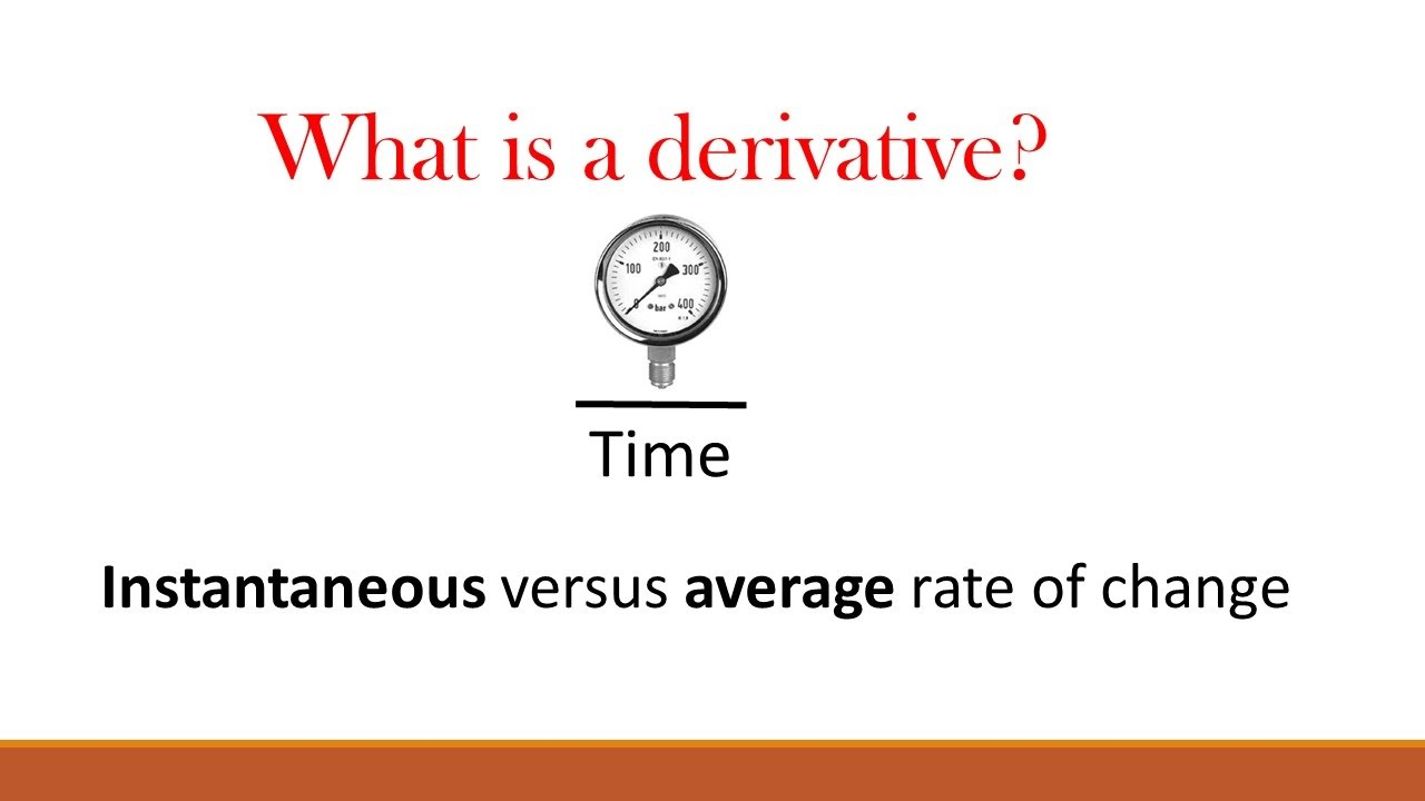 What is a derivative ? (Part 2: Instantaneous vs average ...