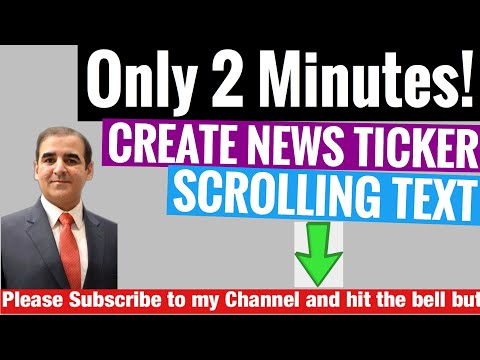 How To Create News Ticker/Scrolling Text Within 2 Mins On IPhone
