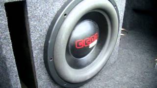 Single SSA GCON 12 Subwoofer Excursion