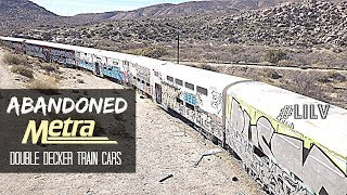 ABANDONED Metra Train Cars near Mexican Border in California
