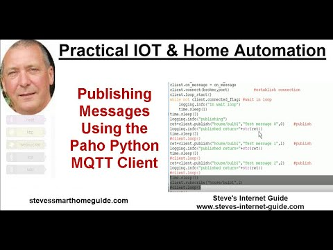 Publishing Messages Using the Paho Python MQTT Client - YouTube