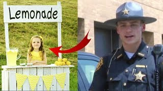 This Cop Buys Lemonade At Girl's Stand And Returns Next Day, But Not To Buy More !