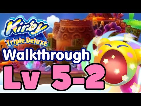 Kirby Triple Deluxe Gameplay Walkthrough Level 5-2 Endless Explosions