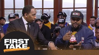 stephen a smith and ice cube debate lebron james joining the lakers first take espn