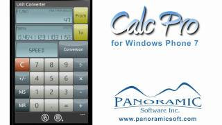 Calc Pro for Windows Phone 7 - Panoramic Software Inc.