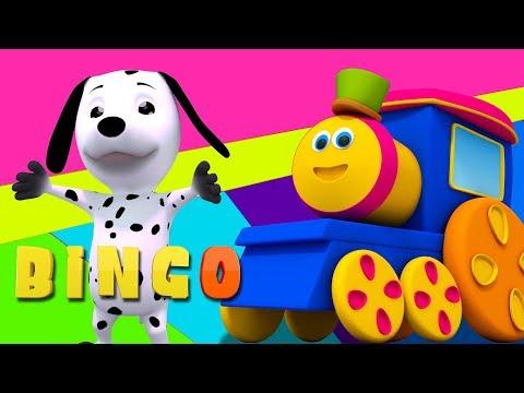 bob xe lửa | bingo con chó | vần điệu cho trẻ em | trẻ em bài hát | Bob Bingo the Dog Song