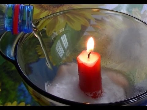 Baking Soda, Vinegar and Candle