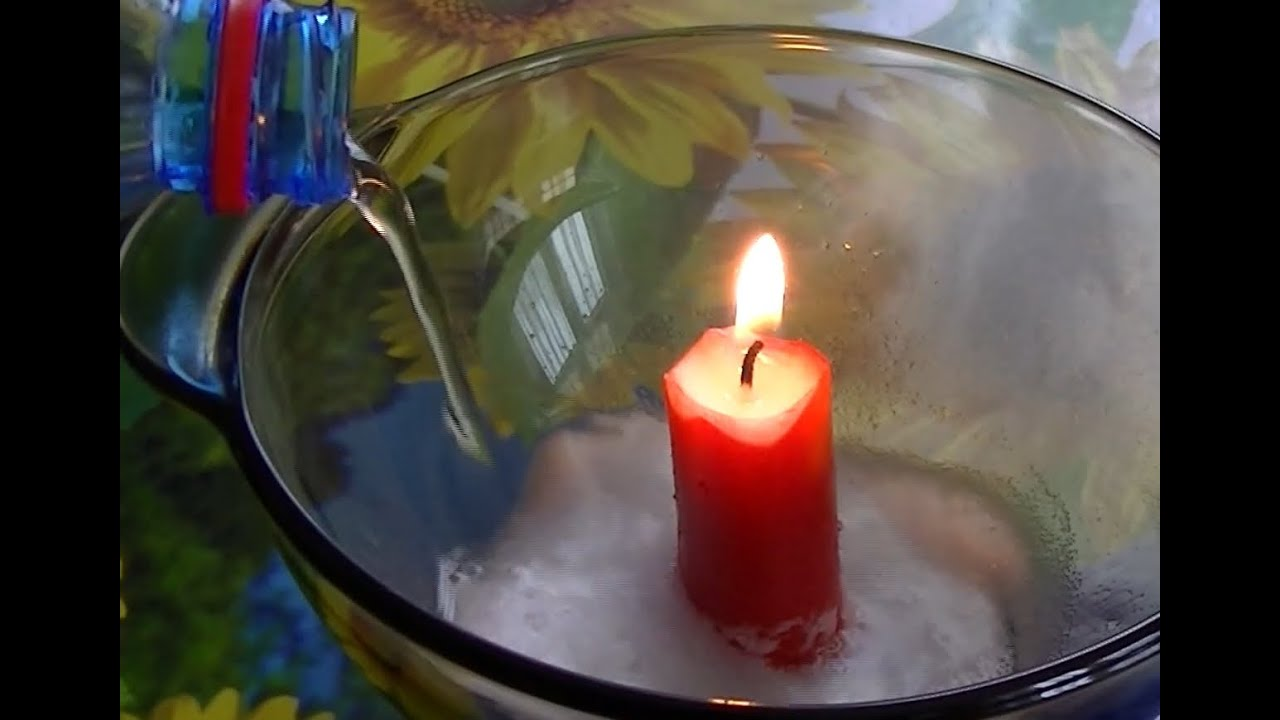 Baking soda vinegar and candle youtube for How to make candle sticks