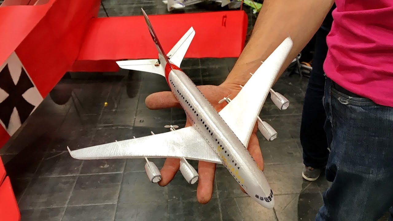 A 380 Nano Super Micro Lightweight Indoor Model Airliner Demo Flight Intermodellbau 2017