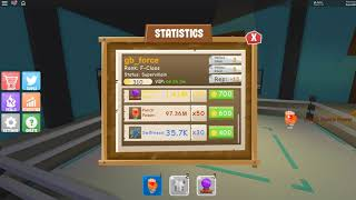Reached 100 millions punch power without spending 1 robux / Roblox Power Simulator