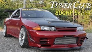 800HP Time Attack Nissan Skyline GT-R(R32) Wacky Mate - Tuner Club Eps.5