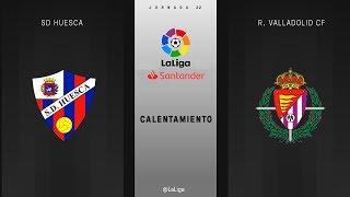 Calentamiento SD Huesca vs R. Valladolid CF