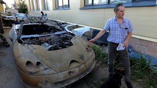 Советский спорткар Лаура 2. Запуск двигателя и поездка к Машинаторам.