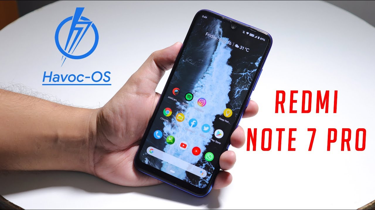 HavocOS V2 8 13th August 2019 On Redmi Note 7 Pro!