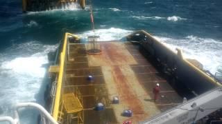 PTSC- Vũng Tàu: Cargo Operating On heavy swell (PTSC- Marine)
