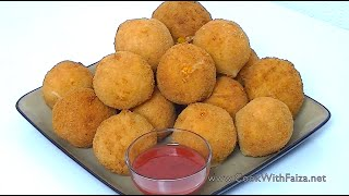 FRIED CHICKEN BREAD BALLS *COOK WITH FAIZA*