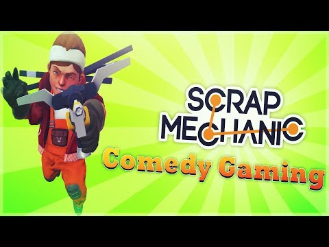Scrap Mechanic - Building A Ramp -  Flying Krabby Patty - Comedy Gaming
