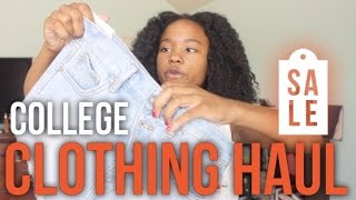 Back to School Clothing Haul 2016: COLLEGE