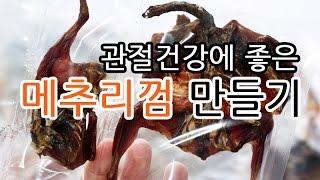 강아지 수제간식 메추리껌 만들기 * 강아지간식 강아지껌…