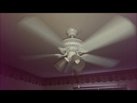 White 42 Quot Hampton Bay Landmark Plus Ceiling Fan In The