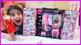 Rüya'nın Yeni Barbie Gardrop Seti, Oyuncak Açma Videosu | ÇOCUK VİDEOSU