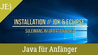 Gambar cover Java & Eclipse - Richtig Installieren