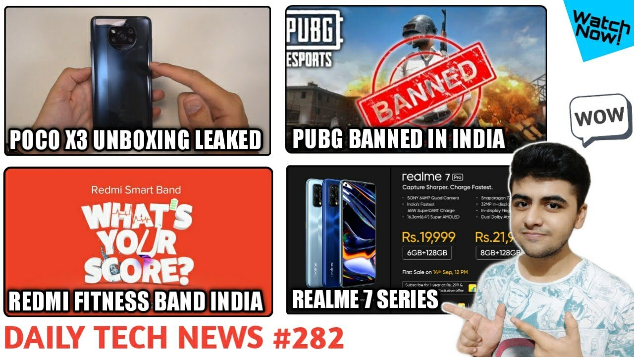 Poco X3 Unboxing Leaked, Realme 7 Series Launched, Pubg Banned In India,  Redmi Fitness Band #282 - YouTube