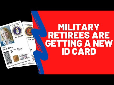 The New Military Retiree ID Card | When You Can Get One