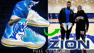 Making Zion's Custom Shoes and Duke Delivery: Part 1 | Full Custom by Sierato