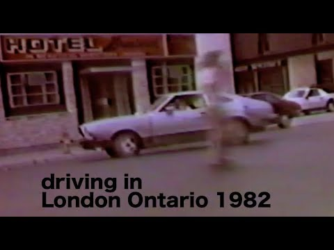 Driving in London Ontario 1982