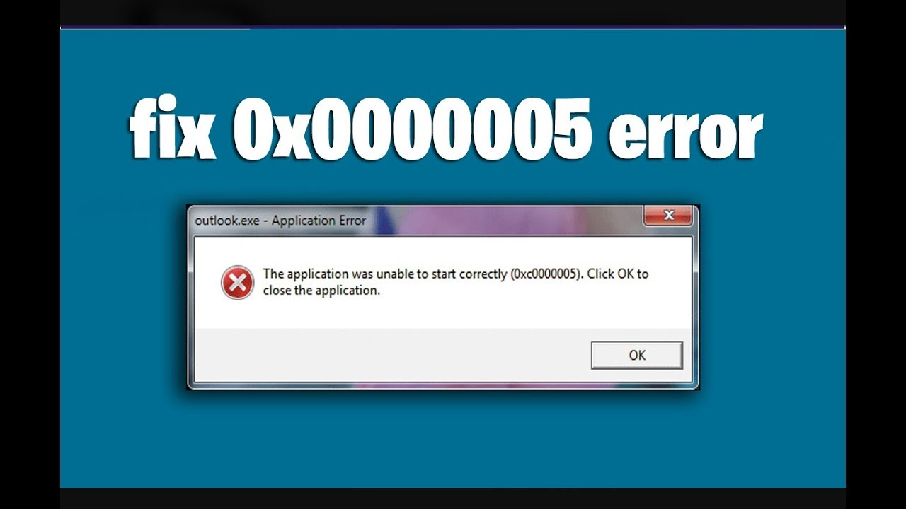Download How to fix This application was unable to start Correctly 0x0000005 error in windows 7,8, 10