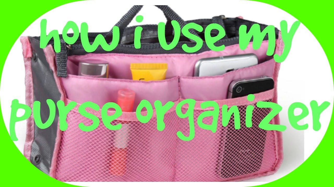 How I Use My Purse Organizer